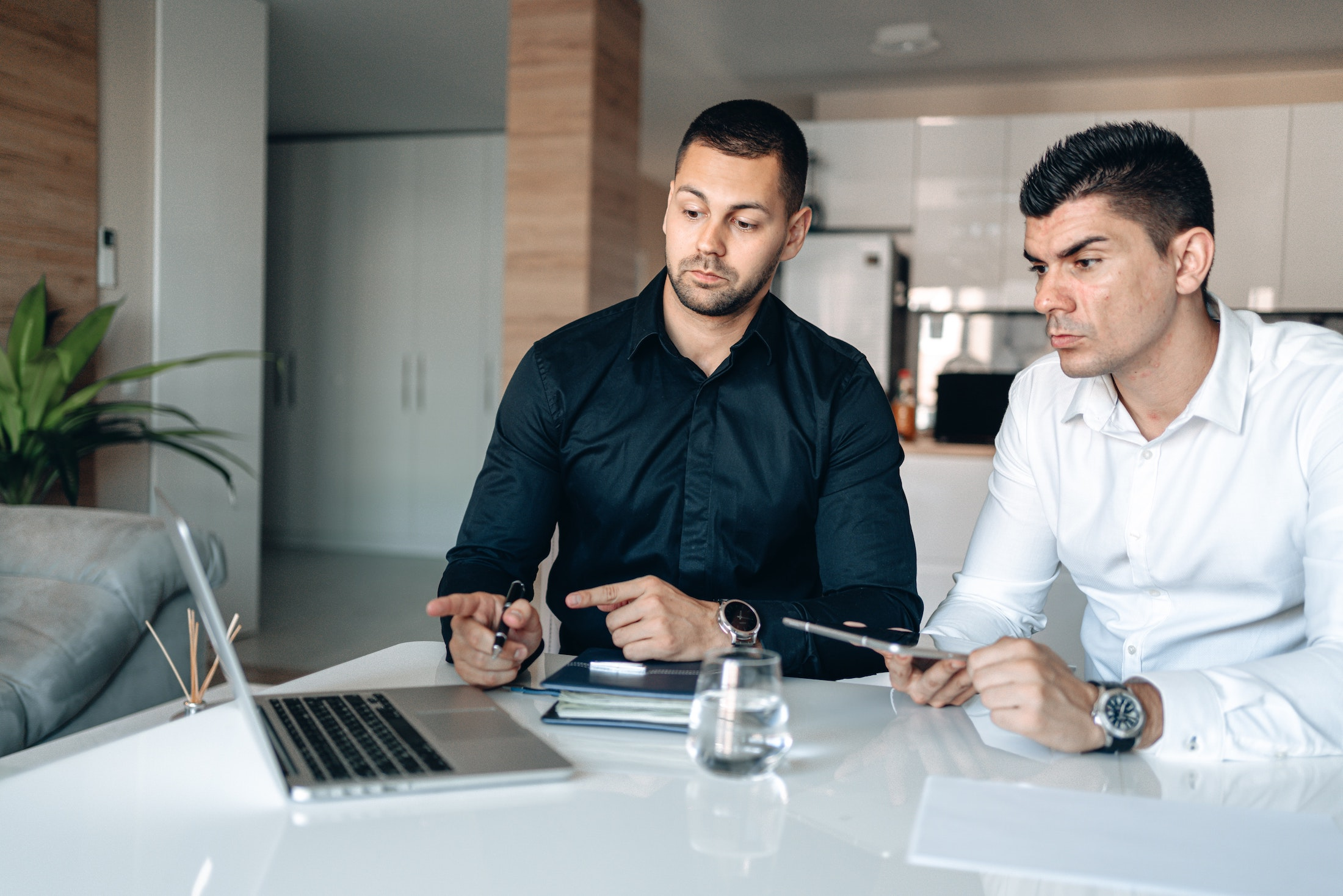 millennial tech guys looking at screen